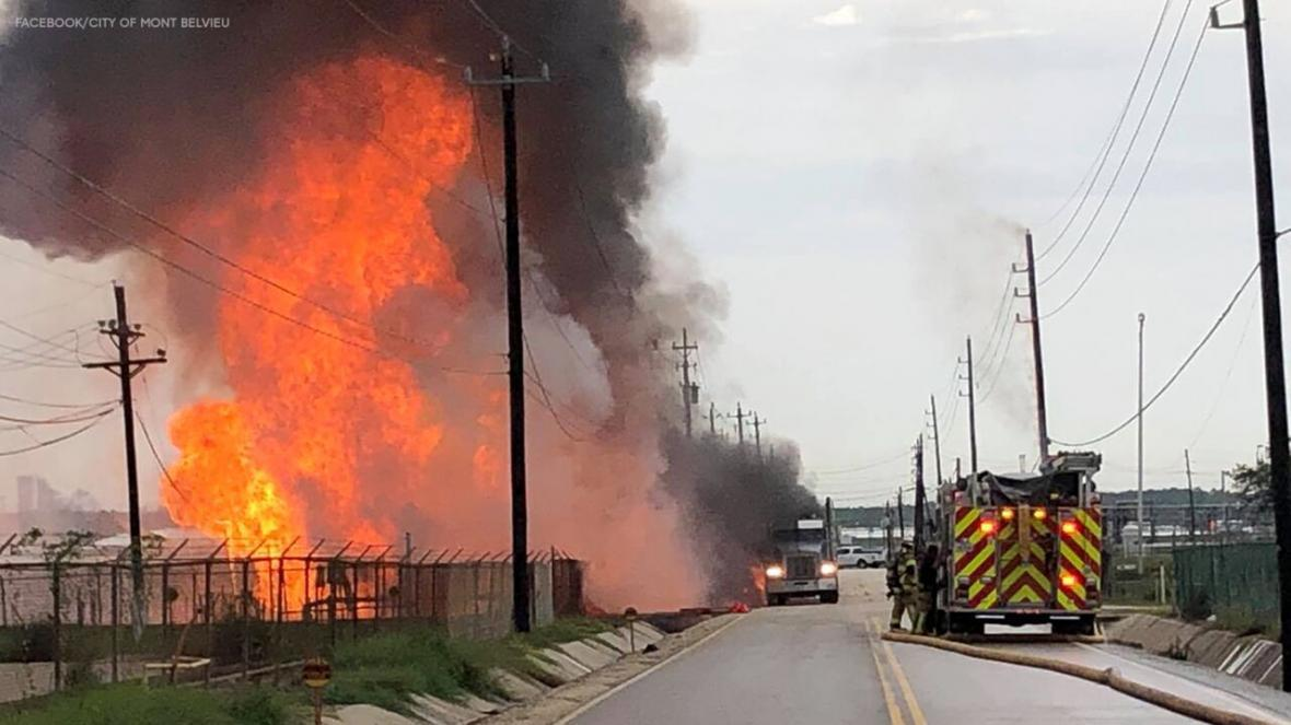 انفجار در تأسیسات گازی تگزاس آمریکا