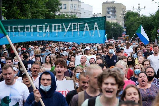 ادامه اعتراضات ضد کرملین در شرق دور روسیه
