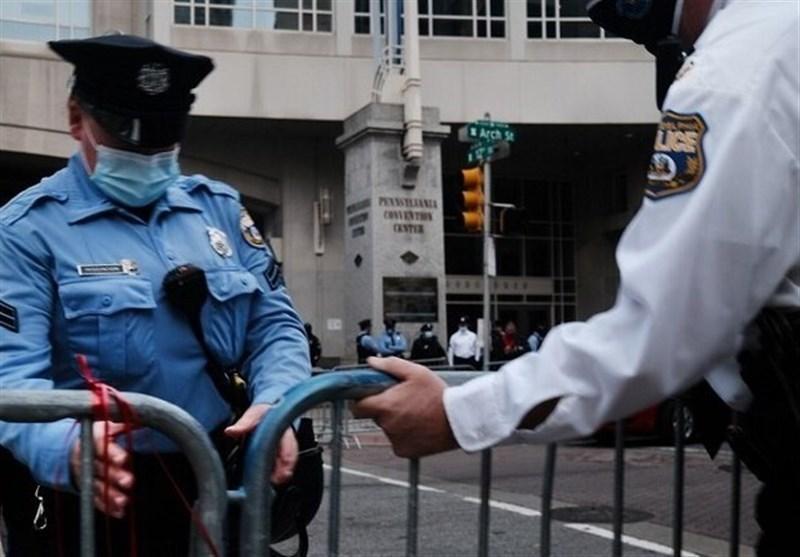 اطراف یک مرکز شمارش آرا در فیلادلفیا تهدید به بمب گذاری شد