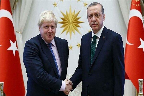 اردوغان و جانسون مصاحبه کردند
