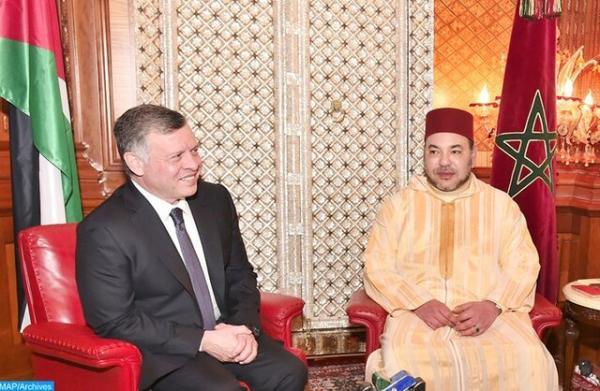 تماس های تلفنی پادشاه مراکش و امیر قطر با پادشاه اردن