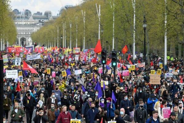 دستگیری 9 نفر در اعتراضات لندن علیه اختیارات بیشتر پلیس