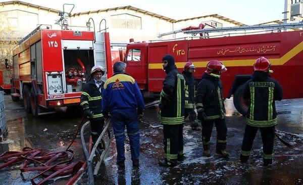 (ویدئو) انفجار و آتش سوزی در کارخانه تاژ