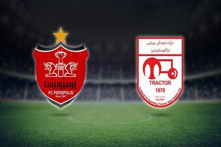 پرسپولیس و تراکتور؛ 19 و 50دقیقه در سوپرجام فوتبال ایران