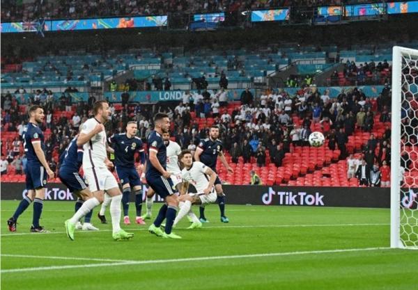 یورو 2020، تساوی انگلیس و اسکاتلند در سرانجام نیمه نخست
